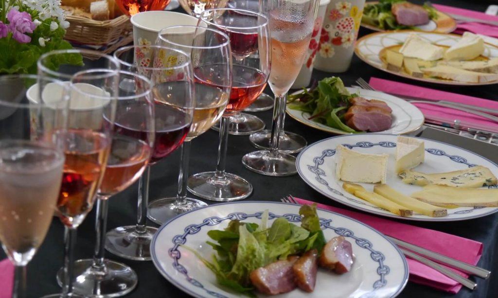 ルミエールアキ:フランス、ワインとチーズ、お花見会