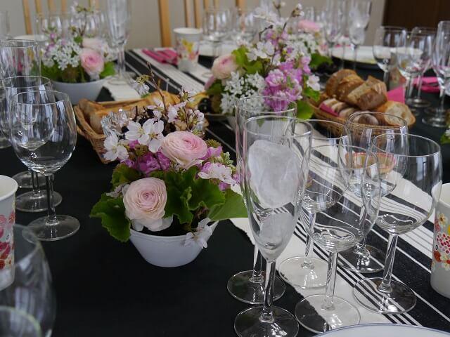 ルミエールアキ:フランスワイン、チーズ、お花見、パーティー、お花アレンジ